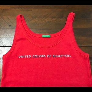 United Colors of Benetton Tank Top. Red. XS
